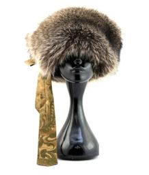 Brown Silk Raccoon Hat