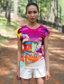 Монгольская мужская футболка с искусством