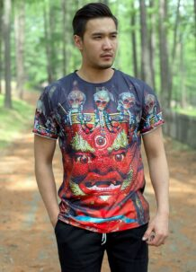 Mongolian Men T-Shirt with Art