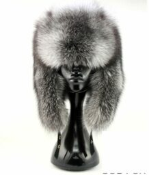 Mongolian Silver Fox Fur Hat