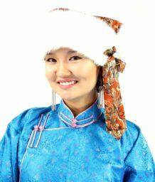 蒙古白色水貂帽子