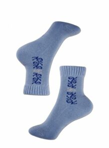 blue female socks