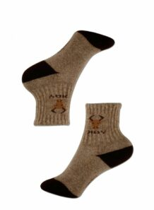 brown female socks