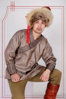 brown male shirt