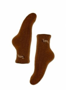 brown male socks