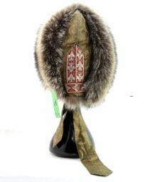Mongolian Brown Silk Raccoon Hat