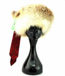 蒙古狐丝绸浣熊帽子