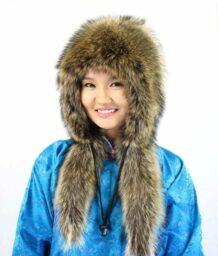 女孩浣熊帽子2