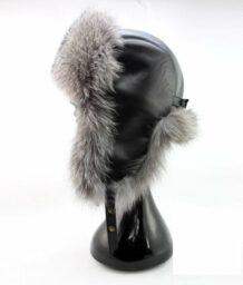Монгольская серая меховая шляпа с ушными клапанами