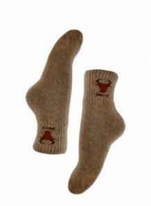 浅棕色男袜