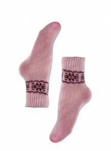 pink female socks