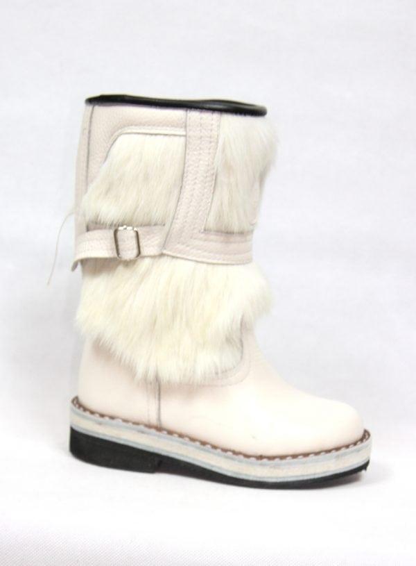 White Fur Boots M2