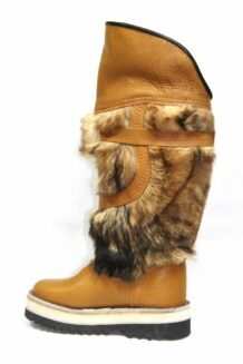 Long Yellow Fur Boots