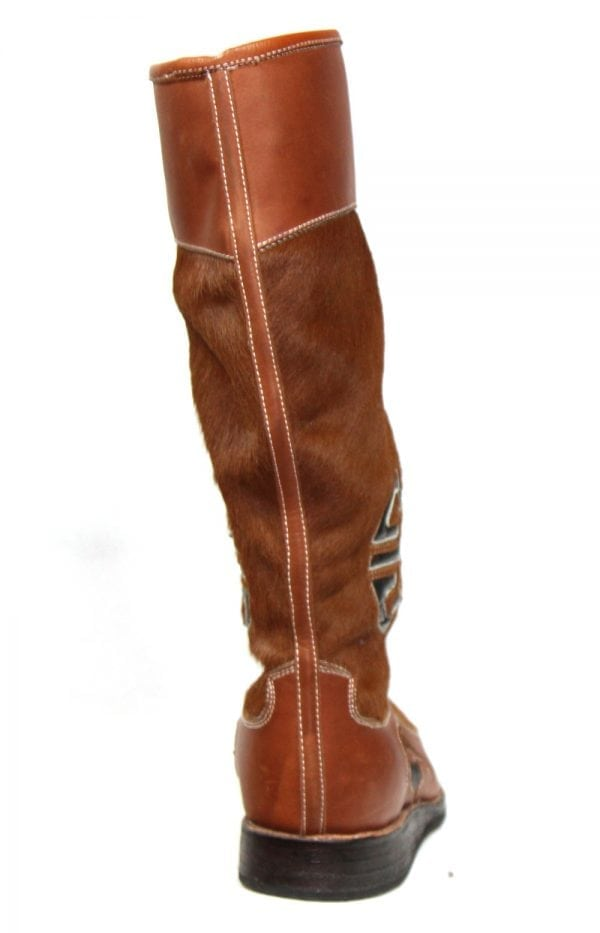 Cowhide Fur Leather Boots M1