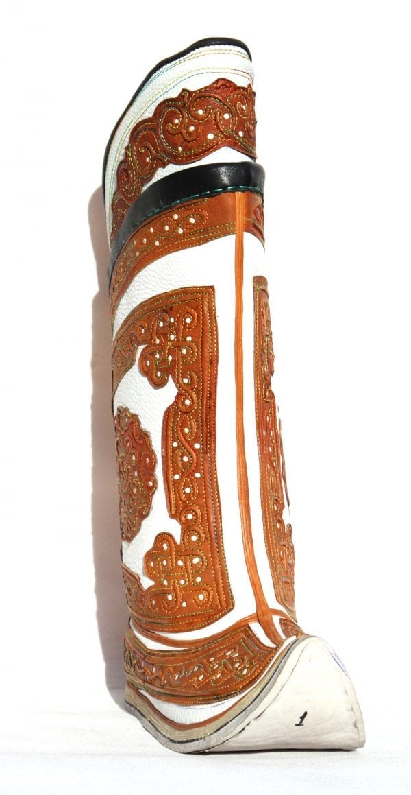 Mongolian White&Brown Boots 64 pattern