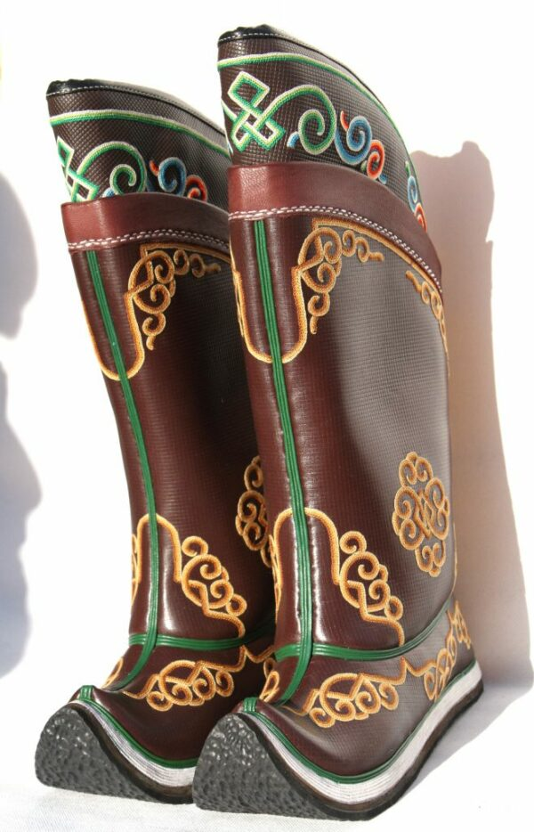 Mongolian Hand Embroidered Boots