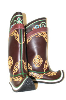 17 th Century Double Embroidery Stitched Boots