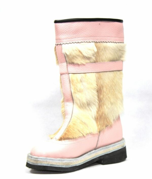 White&Pink Fur Boots
