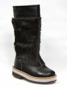 Black Fur Boots M2