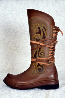 Brown Cowhide Boots (left)