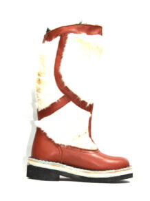 Brown&White Fur Boots 3