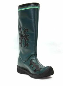 Long-Green-Leahter-Boots