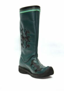 Long Green Leather Boots