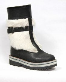 Black&White Fur Boots