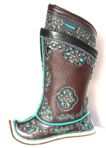 Mongolian Brown Boots 32 pattern