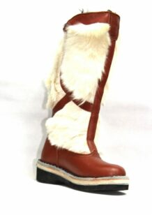 Brown&White Fur Boots