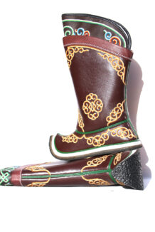 Mongolian Double Embroidery Stitched Boots