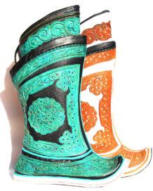 Mongolian Green Boots 64 pattern 3