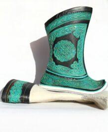 Green Mongolian boots