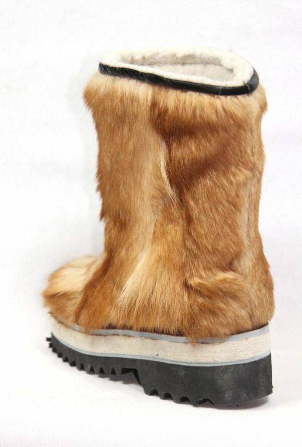 Женщины Коричневые меховые сапоги