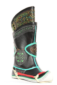 Mongolian Wrestlers Black Boots