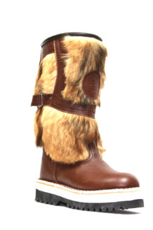 Short Brown Fur Boots