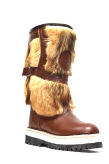 Short Brown Fur Boots