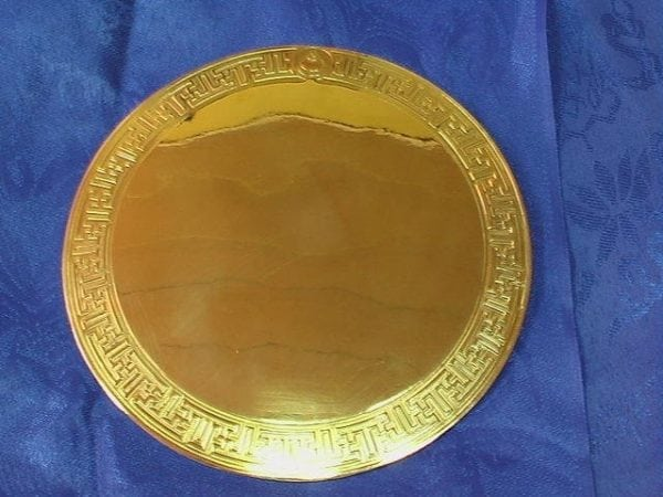 Mongolian Shaman mirror made with copper