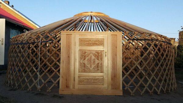 Door and Wooden Framework of Mongolian Yurt