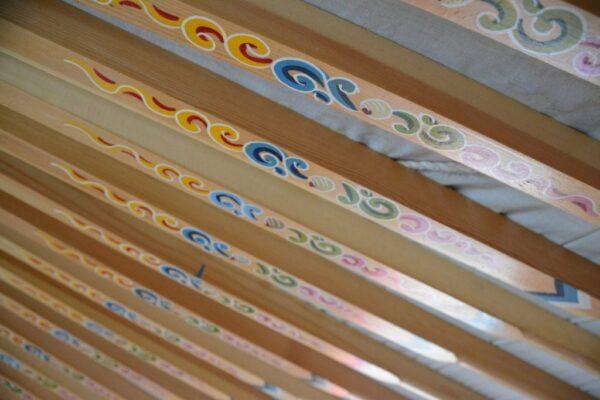 Poles of Mongolian Yurt