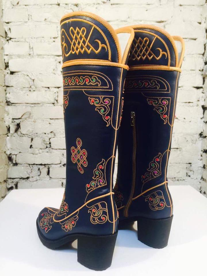 Womens Embroidered Boots Mongolian Store