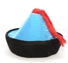 Mongolian Velour Blue Hat