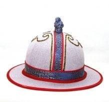 Mongolian White Pattern Hat