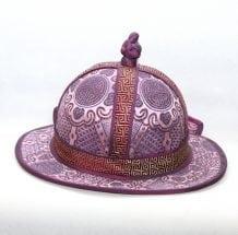 Mongolian Men Purple Hat