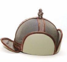 Mongolian 4 Side Brown Velour Hat