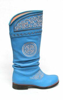 Blue Mongolian Boots