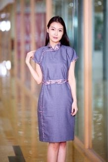 Blue Mongolian Women's Dress 4