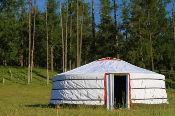 Front of Camping Yurt