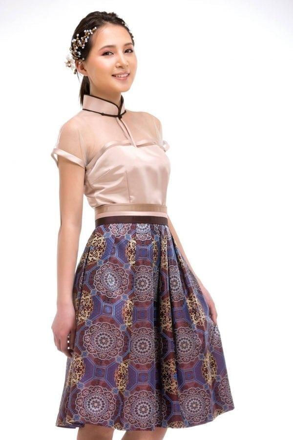 Grey Mongolian Women's Dress 2
