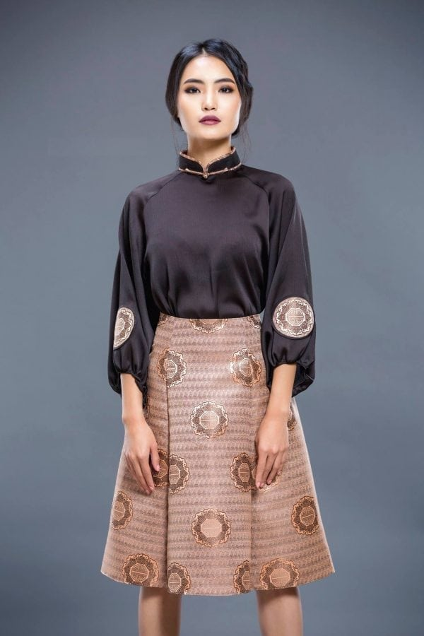 Black Mongolian Women's Dress 3